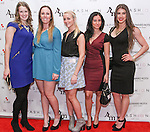 "Image from the 2nd annual Holiday Wives Soiree ""Dress for Success"" event, held at the Helen Yarmak showroom located at 730 Fifth avenue, on December 9, 2014."