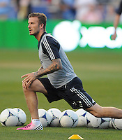 MLS All-Stars midfielder David Beckham (23) The MLS All Stars Team defeated Chelsea FC 3-2 at PPL Park Stadium, Wednesday 25, 2012.