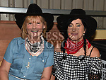 Rosie Smith and Paula Lee at the Big Country night in Cushinstown Athletic Club in aid of the Oncology Unit at Our Lady of Lourdes Hospital. Photo:Colin Bell/pressphotos.ie
