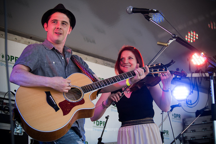 Caolaidhe Davis and Meghan Davis of The 19th Street Band performs at the fifth annual Kingman Island Bluegrass Festival in Washington, DC. 26 April 2014 PHOTO/John Nelson