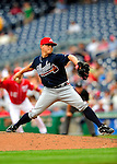 5 July 2009: Atlanta Braves' relief pitcher Kris Medlen on the mound against the Washington Nationals at Nationals Park in Washington, DC. The Nationals defeated the Braves 5-3, to take the rubber game of their 3-game weekend series. Mandatory Credit: Ed Wolfstein Photo