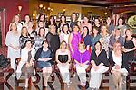 80'S GIRLS: Enjoying a 'Night of Memories' at the Presentation Secondary School Class of '86 reunion at the Meadowlands hotel, Tralee on Saturday night were front l-r: Fiona McPolin, Brigid Griffin, Moira Lynch, Monica Lynch, Breda Sugrue and Frances Sugrue. Middle l-r: Lorraine Murphy, Lorna Brassill, Aisling O'Sullivan, Anita Riordan, Linda Aherne, Aine Brosnan, Susan O'Shea, Nora Maunsell, Marion Thornton, Ciara Leahy, Angela Houlihan, Anne Lucid, Sinead McCann. Back l-r: Carmel O'Shea, Ellen O'Sullivan, Pauline Moriarty, Marianne Hanafin, Mary McElligott, Mary Lawlor, Noreen O'Shea, Gillian Tobin, Heather Shanahan and Elaine O'Connor.