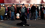 Fans watch a man juggle a football before Aston Villa play Manchester City in their Premier League match at Villa Park, Birmingham. Picture date: 12th January 2020. Picture credit should read: Darren Staples/Sportimage