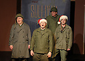 """CSTOCK is presenting the musical  """"White Christmas"""" Dec 2-18 at their Silverdale theater. This production  adaptation features seventeen Irving Berlin songs. (L-R) Actors Michael Anderson, F James Raasch, Eric Richardson and Eric Wise perform a scene during rehearsal Monday. Brad Camp 