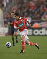 SL Benfica forward Javier Saviola (30). SL Benfica  defeated New England Revolution, 4-0, at Gillette Stadium on May 19, 2010.