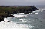 Stormy weather on the Lizard Peninsula coast, Cornwall, England, UK