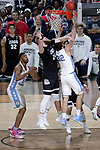 GLENDALE, AZ - APRIL 03: Luke Maye #32 of the North Carolina Tar Heels and Przemek Karnowski #24 of the Gonzaga Bulldogs look for a rebound during the 2017 NCAA Men's Final Four National Championship game at University of Phoenix Stadium on April 3, 2017 in Glendale, Arizona.  (Photo by Matt Marriott/NCAA Photos via Getty Images)
