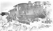3/4 engineer's-side view of D&amp;RG #263 and her crew east of the Cumbres snowsheds.<br /> D&amp;RG  Cumbres, CO  Taken by Lively, Charles R. - 1915