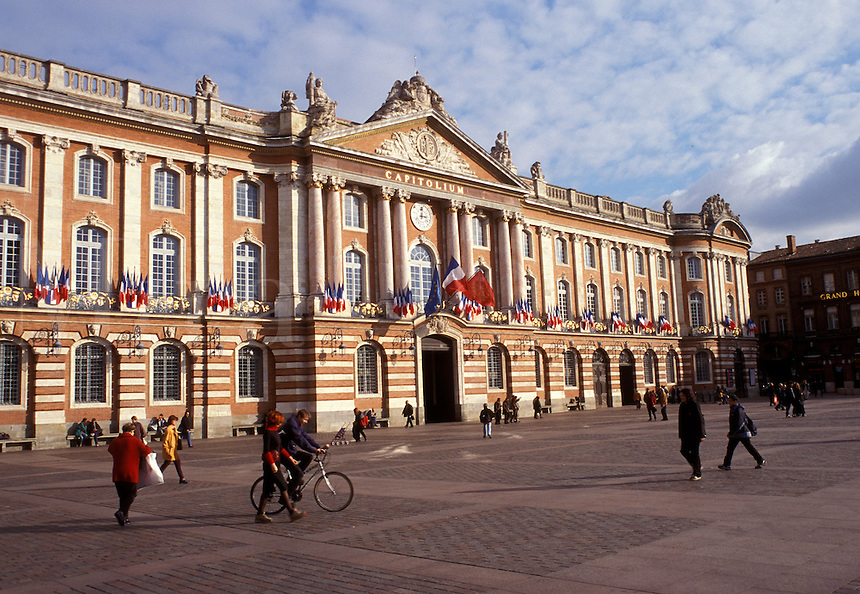 Toulouse, France, Midi-Pyrenees, Haute-Garonne, Europe, Place du Capitole, City Hall, Capitolium