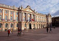 Toulouse, France, Midi-Pyrenees, Haute-Garonne, Europe, Place du Capitole, City Hall, Capitolium
