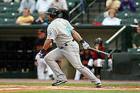 August 28 2008:  Danny Sandoval of the Syracuse Chiefs, Class-AAA affiliate of the Toronto Blue Jays, during a game at Frontier Field in Rochester, NY.  Photo by:  Mike Janes/Four Seam Images