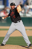 Carlos Misell (38) of the Bakersfield Blaze pitches during a game against the Rancho Cucamonga Quakes at LoanMart Field on June 1, 2015 in Rancho Cucamonga, California. Rancho Cucamonga defeated Bakersfield, 5-2. (Larry Goren/Four Seam Images)