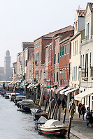 Uno scorcio della Fondamenta dei Vetrai, nell'isola di Murano, Laguna di Venezia.<br /> View of the Fondamenta dei Vetrai in Murano, Venice's Lagoon.<br /> UPDATE IMAGES PRESS/Riccardo De Luca
