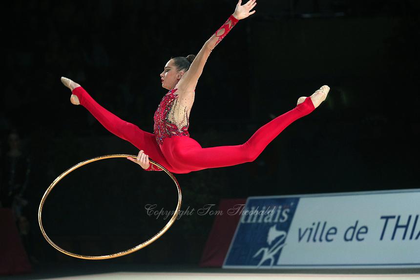 Vlada Nikolchenko of Ukraine performs at Thiais Grand Prix on March 25, 2018.