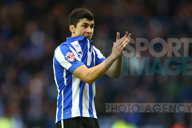 Wednesday's Fernando Forestieri dejected - Sheffield Wednesday vs Derby County - Skybet Championship - Hillsborough - Sheffield - 06/12/2015 Pic Philip Oldham/SportImage