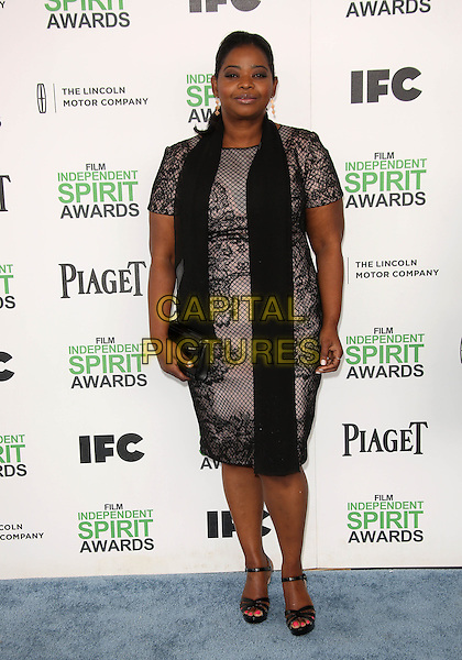 SANTA MONICA, CA - March 01: Octavia Spencer at the 2014 Film Independent Spirit Awards Arrivals, Santa Monica Beach, Santa Monica,  March 01, 2014. Credit: Janice Ogata/MediaPunch<br /> CAP/MPI/JO<br /> &copy;JO/MPI/Capital Pictures