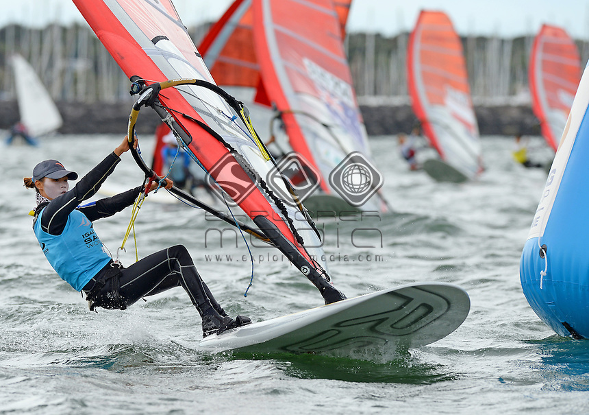 RSX-Women / Qiaoshan WENG  (CHN)<br /> 2013 ISAF Sailing World Cup - Melbourne<br /> Sail Melbourne - The Asia Pacific Regatta<br /> Sandringham Yacht Club, Victoria<br /> December 1st - 8th 2013<br /> &copy; Sport the library / Jeff Crow