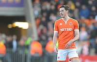 Blackpool's Ben Heneghan<br /> <br /> Photographer Kevin Barnes/CameraSport<br /> <br /> The EFL Sky Bet League One - Blackpool v Southend United - Saturday 9th March 2019 - Bloomfield Road - Blackpool<br /> <br /> World Copyright © 2019 CameraSport. All rights reserved. 43 Linden Ave. Countesthorpe. Leicester. England. LE8 5PG - Tel: +44 (0) 116 277 4147 - admin@camerasport.com - www.camerasport.com
