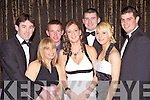 Members of The North Kerry Harriers pictured last Friday night for the annual dinner dance held in The Devon Inn, Templeglantine . l-r: Mike McDonnell, Louise Harrison, Dennis Breen, Emer O'Connor, Neilus Flaherty, Saorcha Fitzgerald, Eoin Brown