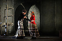 """English Touring Opera presents """"Don Giovanni"""", by Wolfgang Amadeus Mozart, at the Hackney Empire.  Directed by Lloyd Wood, with set & costume design by Anna Fleischle and lighting design by Guy Hoare. Picture shows:  Ania Jeruc (Donna Elvira), Lucy Hall (Zerlina)."""