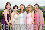 Noreen Landers, Sinead Hanafin, Lauren McConnell, Katie McEvoy and Ciara Lynch pictured at the Pres Tralee debs in Ballyroe Heights Hotel on Wednesday, August 8th..