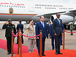 Egyptian President Abdel Fattah al-Sisi and Rwandan President Paul Kagame inspect a guard of honour after al-Sisi's arrival at Kigali International Airport on August 15, 2017. The Egyptian President is paying a two day visit to Rwanda. Photo by Egyptian President Office