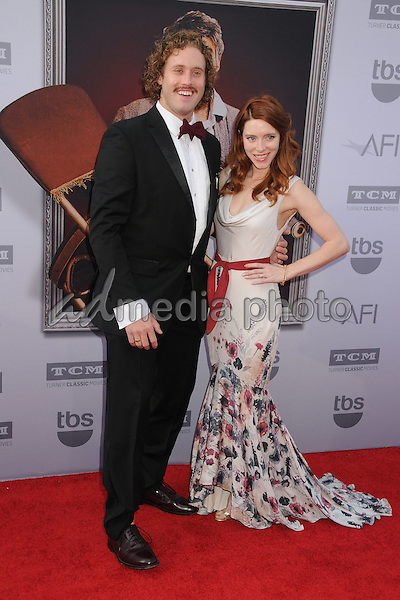 4 June 2015 - Hollywood, California - T.J. Miller, Kate Gorney. AFI 43rd Life Achievement Award Gala Tribute To Steve Martin held at the Dolby Theatre. Photo Credit: Byron Purvis/AdMedia