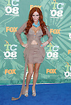 Actress Phoebe Price arrives at the 2008 Teen Choice Awards at the Gibson Amphitheater on August 3, 2008 in Universal City, California.