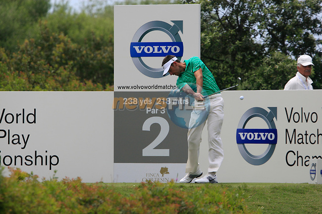 Charl Schwartzel (RSA) tees off on the 2nd tee during the afternoon session on Day 2 of the Volvo World Match Play Championship in Finca Cortesin, Casares, Spain, 20th May 2011. (Photo Eoin Clarke/Golffile 2011)