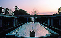 Malibu CA: J. Paul Getty Museum,  1972-73. Modeled after the Villa of the Papyri, Pompeii. Photo '86.