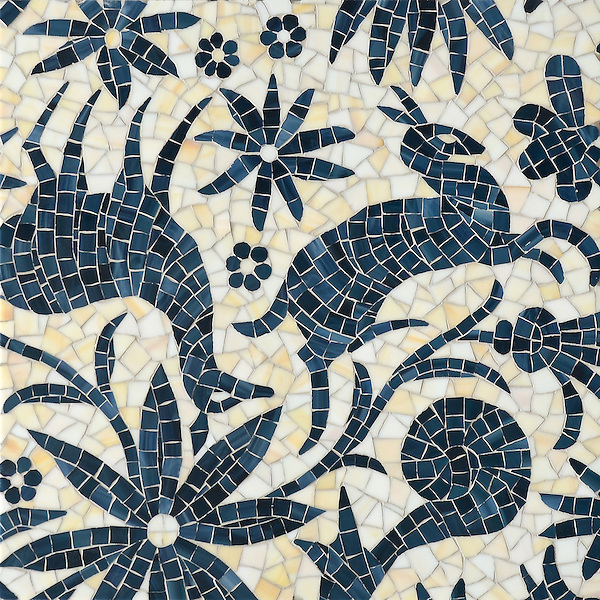 Otomi, a jewel glass mosaic, shown in Agate and Marcasite, is part of the Kiddo™ Collection by Cean Irminger for New Ravenna.
