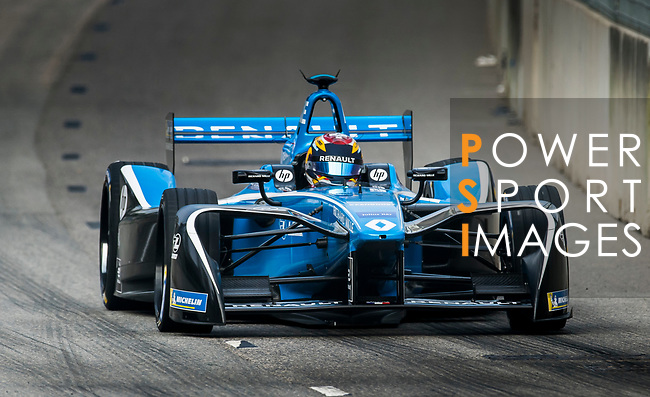 Sebastien Buemi of Switzerland from Renault e.dams on track at the Formula E Non-Qualifying Practice 3 during the FIA Formula E Hong Kong E-Prix Round 2 at the Central Harbourfront Circuit on 03 December 2017 in Hong Kong, Hong Kong. Photo by Marcio Rodrigo Machado / Power Sport Images