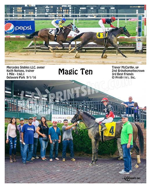 Magic Ten winning at Delaware Park on 9/1/16
