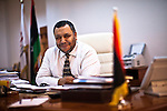 National Board for Technical and Vocational Education- Mokhtar Jwaili - 22 October 2013 - Tripoli - Libya -- Dr Mokhtar Jwaili, the chairman of the Ministry of Higher Education and Scientific Research's National Board for Technical and Vocational Education takes a break at his desk - PHOTO: Iason ATHANASIADIS / EUP-IMAGES