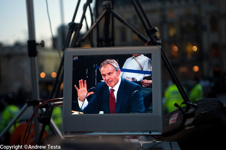 UK. London. 29th January 2010.Tony Blair gives evidence at the Chilcot Inquiry..©Andrew Testa for the New York Times.