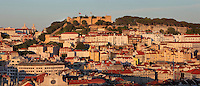 View over the city with the Castelo de Sao Jorge or St George Castle, a medieval Moorish fortress, on the hill above, Lisbon, Portugal. Picture by Manuel Cohen