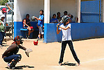 ORGANIZED GIRL SOFTBALL GAME<br />