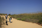 Israel, Southern Coastal Plain, Hiking at Nahal Sorek National Park