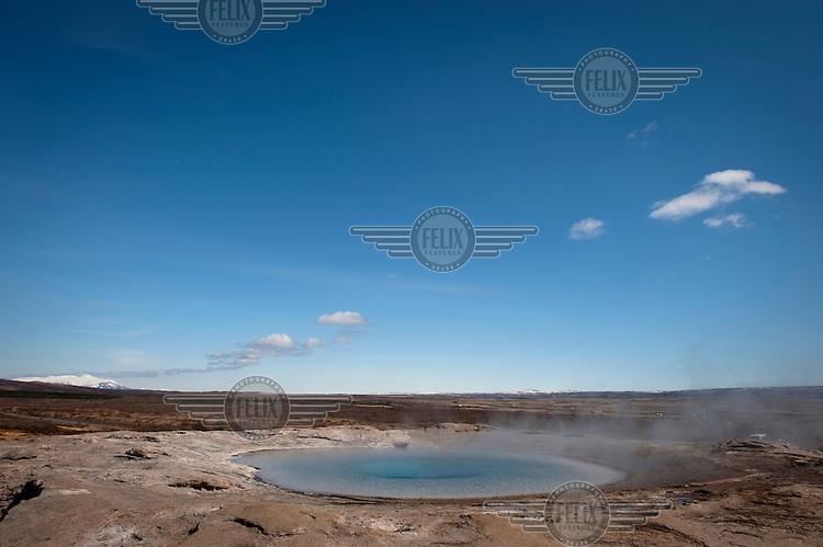 The erupting hot pools of Geysir.