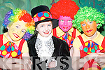 Clowning around: At The Wizard of Oz pantomime in Rathmore Community Centre last Sunday were, l-r: Finian Wall, Sarah Dineen, Brendan Wall and William Leader. .