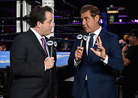 "LOS ANGELES - SEPTEMBER 28:  Kenny Albert and Joe Goossen at the Fox Sports PBC ""Fight Night"" - Errol Spence Jr. vs Shawn Porter on September 28, 2019 in Los Angeles, California. (Photo by Frank Micelotta/Fox Sports/PictureGroup)"