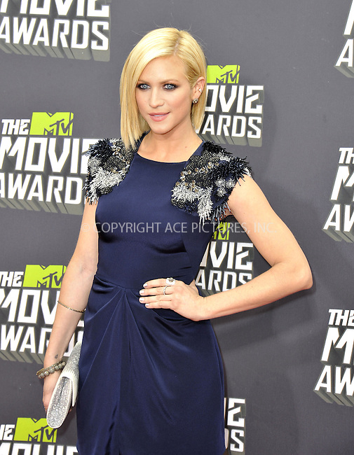 WWW.ACEPIXS.COM....April 14, 2013, Los Angeles, Ca.......Brittany Snow arriving at the 2013 MTV Movie Awards at Sony Pictures Studios on April 14, 2013 in Culver City, California.......By Line: Peter West/ACE Pictures....ACE Pictures, Inc..Tel: 646 769 0430..Email: info@acepixs.com