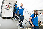 FK Trakai v St Johnstone&hellip;05.07.17&hellip; Europa League 1st Qualifying Round 2nd Leg<br />Liam Craig steps off the aircraft after landing in Vilnius, Lithuania<br />Picture by Graeme Hart.<br />Copyright Perthshire Picture Agency<br />Tel: 01738 623350  Mobile: 07990 594431