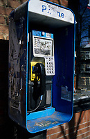 bell, phone booth in downtown Toronto<br />