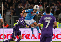 Jorginho  during the the Italian Cup final soccer match between Napoli and  Fiorentina at the Olympic stadium in Rome May 3, 2014