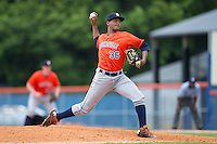 Greeneville Astros relief pitcher Albert Abreu (36) in action against the Kingsport Mets at Hunter Wright Stadium on July 7, 2015 in Kingsport, Tennessee.  The Mets defeated the Astros 6-4. (Brian Westerholt/Four Seam Images)