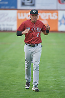 Jose Caraballo (6) of the Idaho Falls Chukars before the game against the Ogden Raptors at Lindquist Field on July 2, 2018 in Ogden, Utah. The Raptors defeated the Chukars 11-7. (Stephen Smith/Four Seam Images)