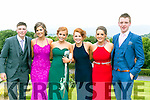 Enjoying the Colaiste Ide agus Iosef, Abbeyfeale  Debs at Ballyroe Heights Hotel on Tuesday were l-r  Jamie O'Rourke, Niamh Healy, Tina Maloney, Connie Sheehan, Megan Meehan and John Michael Kennelly