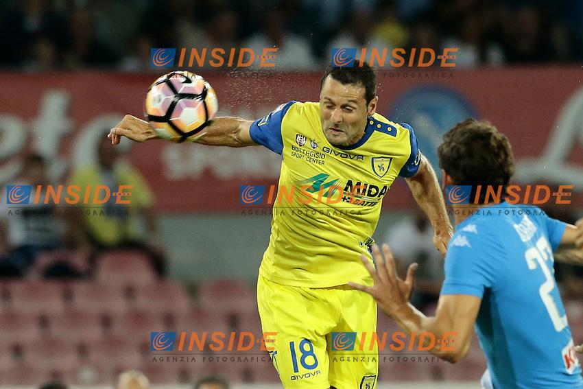 Massimo Gobbi Chievo,  <br /> Napoli 24-09-2016 Stadio San Paolo<br /> Football Calcio Serie A 2016/2017 Napoli - Chievo<br /> Foto Cesare Purini / Insidefoto