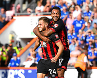 Ryan Fraser of AFC Bournemouth celebrates scoring the second goal with Joshua King of AFC Bournemouth  during AFC Bournemouth vs Leicester City, Premier League Football at the Vitality Stadium on 15th September 2018
